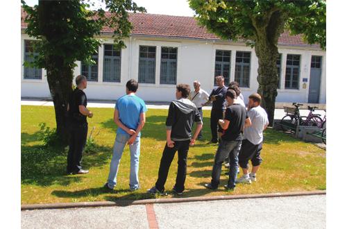 Formation Arts visuels / environnement proche avec les jeunes apprentis du CFA de Morcenx et avec le plasticien Stéphane Brahem